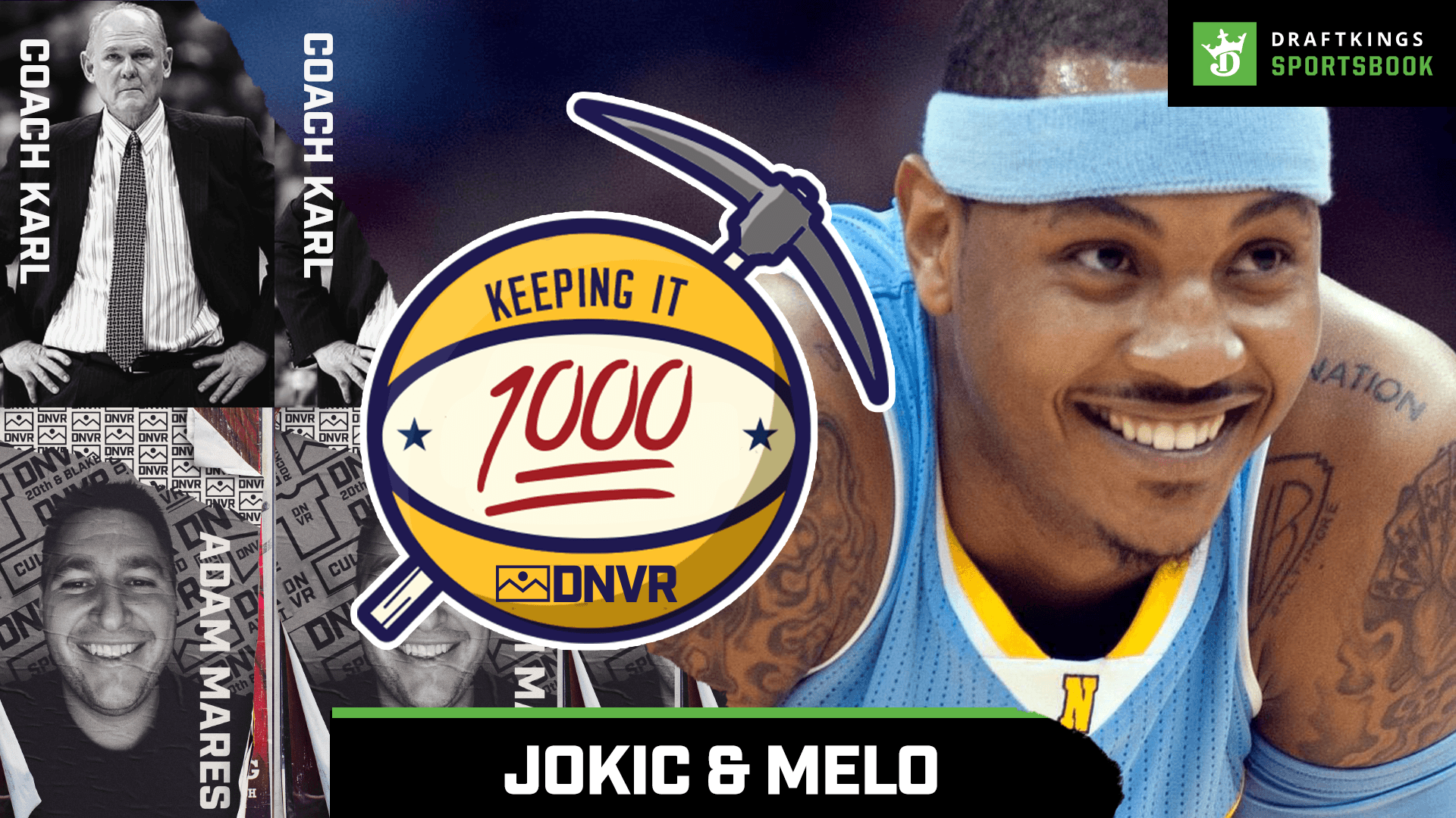 Nikola Jokic and Carmelo Anthony